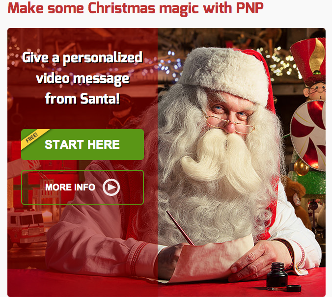 Portable North Pole Personalized Santa Video for Free!