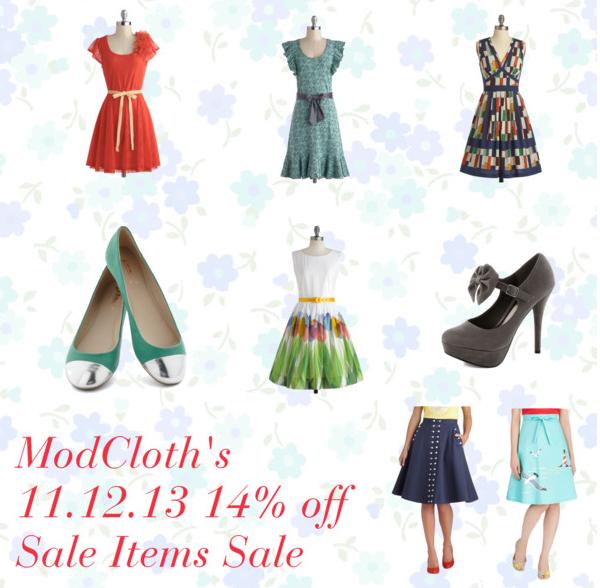 ModCloth 14% Off Sale