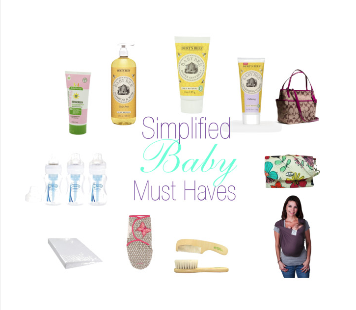Simplified Baby Must Haves