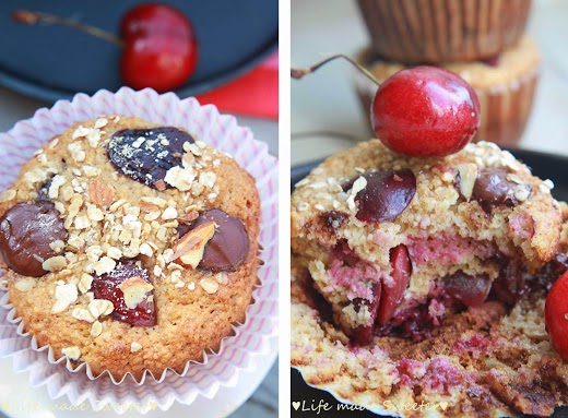 Cherry-Banana-Muffins-with-Dark-Chocolate-Chips-{Healthy-and-GF}-by-Life-Made-Sweeter-5