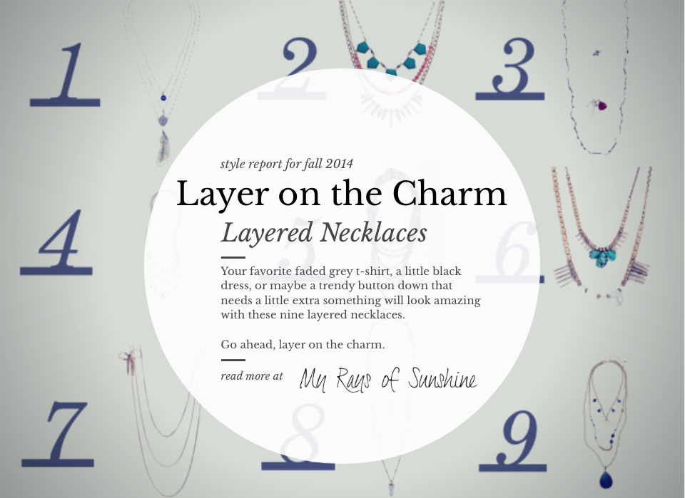 Layer on the Charm with These Layered Necklaces