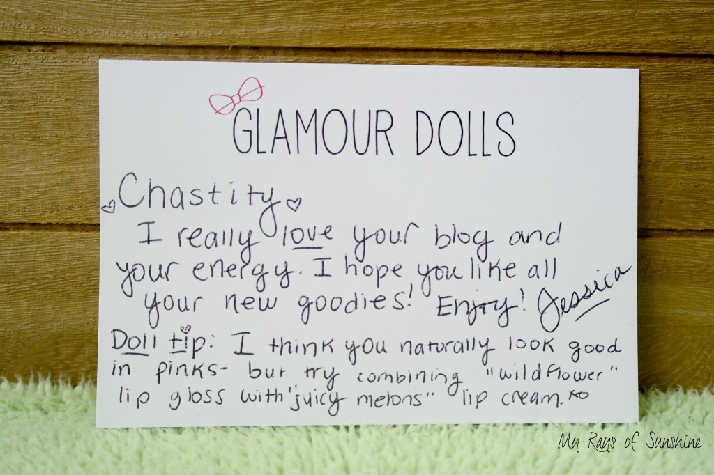 Glamour Dolls Note