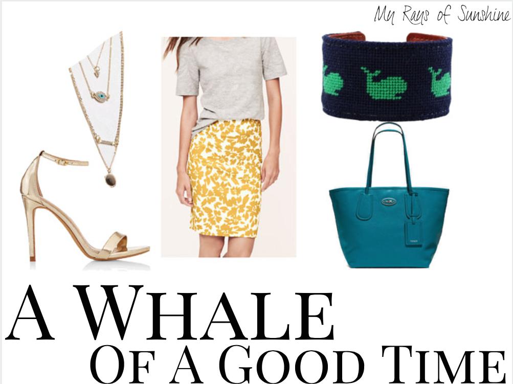Ma Petite LuLu Whale Needlepoint Cuff