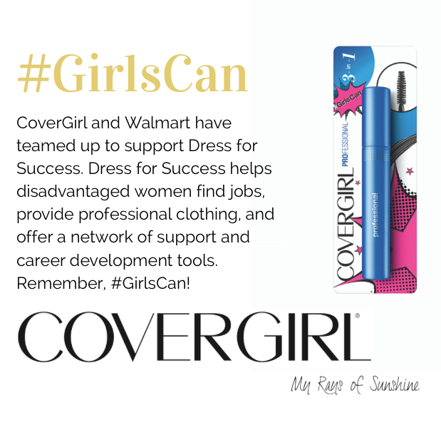 #GirlsCan with CoverGirl and Walmart