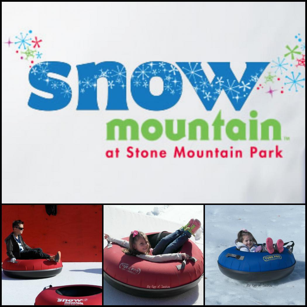 Floridians Visit Snow Mountain at Stone Mountain