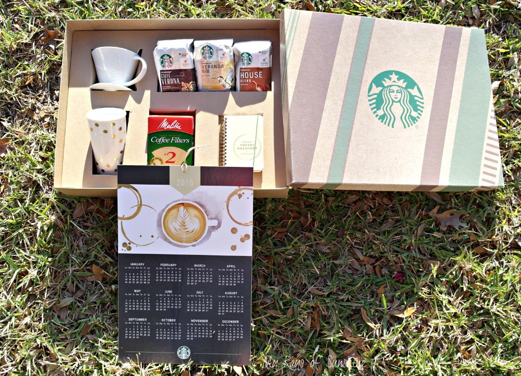 This is an amazing welcome Starbucks Coffee package!