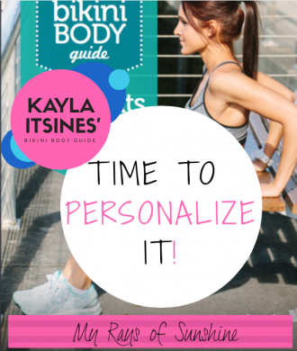 Kayla Itsines' Bikini Body Guide - Time to Personalize It!