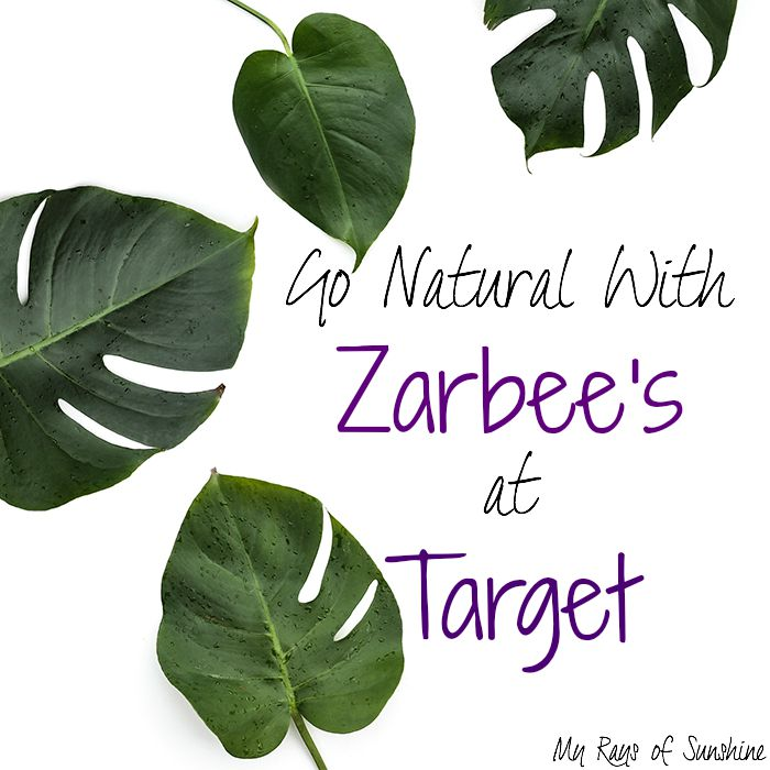 Go Natural with Zarbee's at Target