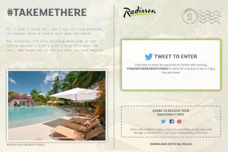 Radisson #TakeMeThere Getaway Contest