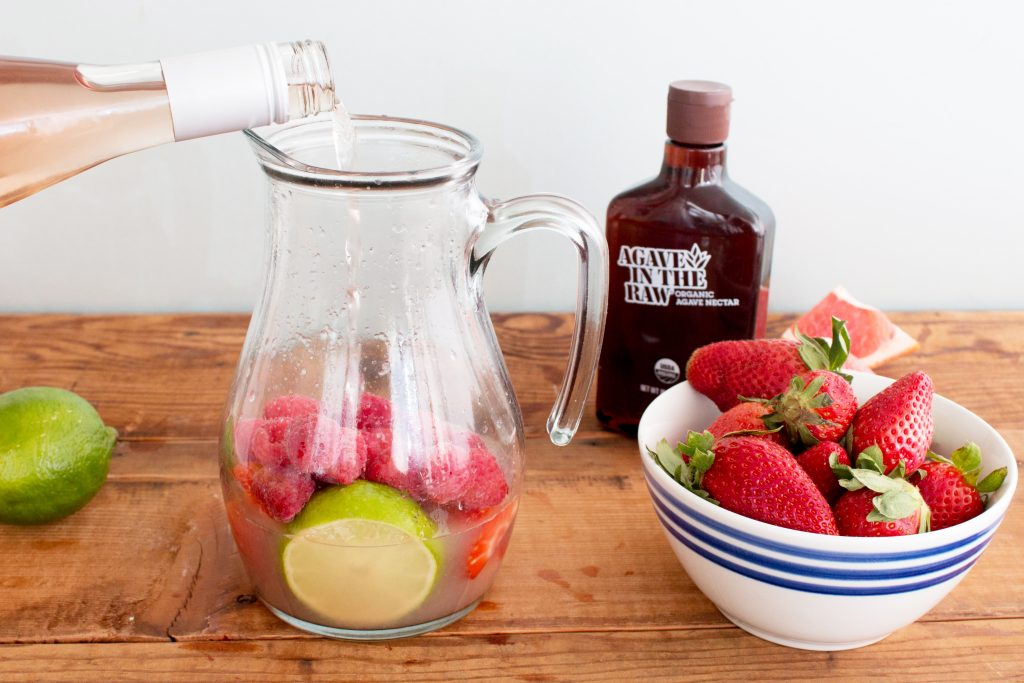 Sparkling Rosé Sangria Featuring Agave In The Raw + Giveaway