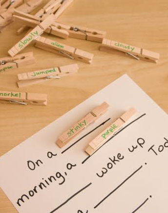Help your child learn grammar the fun way with this engaging clothespin game!