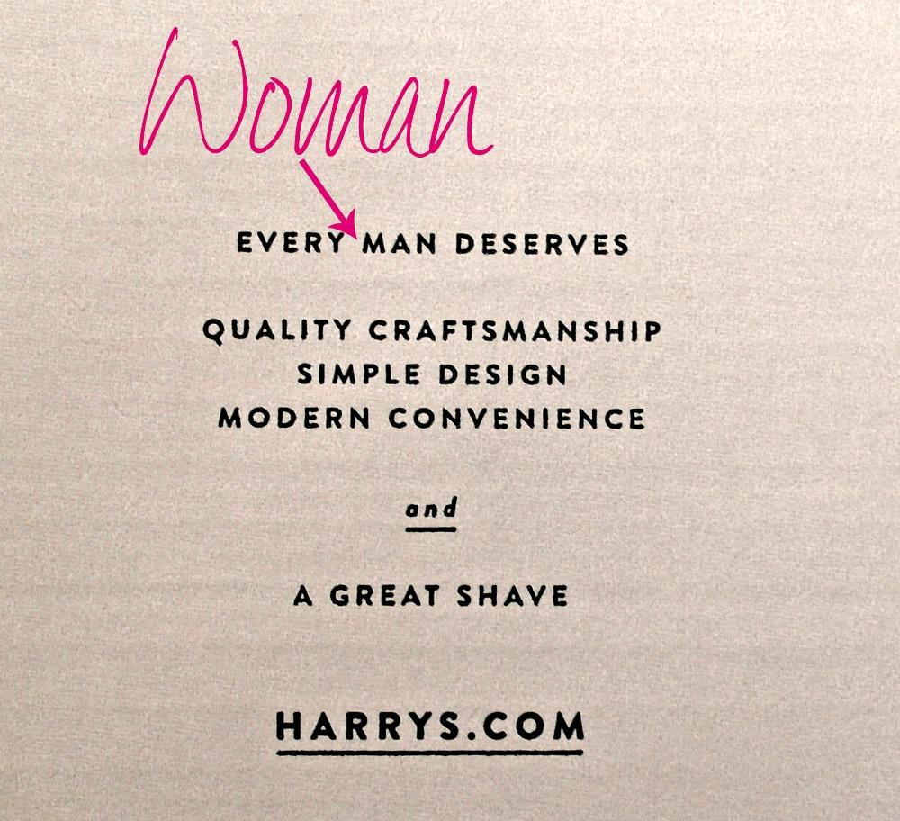 Because Women Love Harry's Razors Too