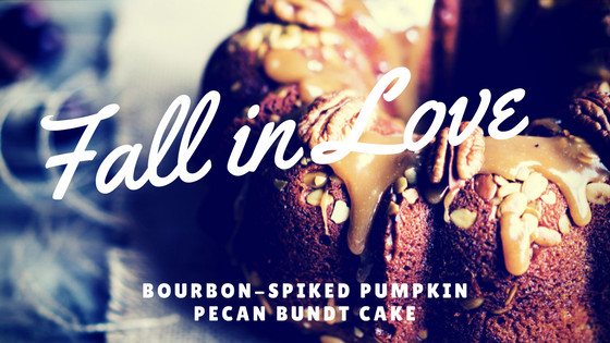 Fall in Love with Bourbon-Spiked Pumpkin Pecan Bundt Cake + Giveaway