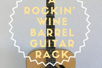 A Rockin' Wine Barrel Guitar Rack
