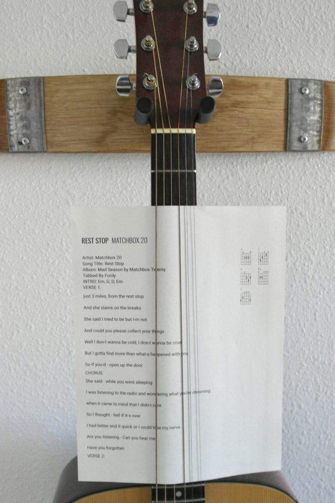 A Rockin' Wine Barrel Guitar Rack