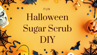 Fun Halloween Sugar Scrub DIY
